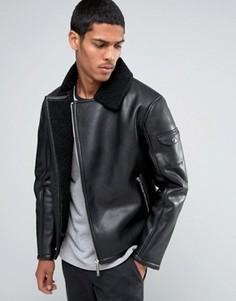 Байкерская куртка из искусственной кожи Good For Nothing - Черный