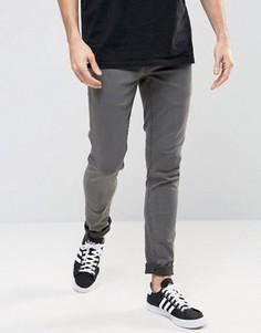 Черные выбеленные эластичные джинсы скинни Solid - Черный