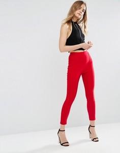 Укороченные зауженные брюки ASOS - Красный