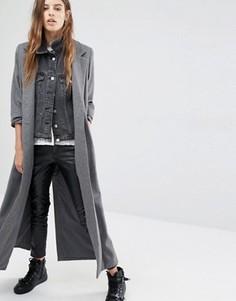 Длинное шерстяное пальто Religion - Серый