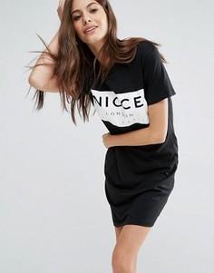 Платье-футболка с логотипом Nicce London - Черный