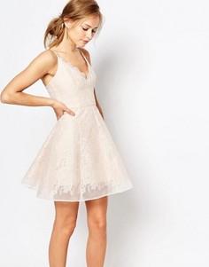 Кружевное платье мини Keepsake - Розовый