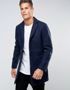 Пальто Selected Homme - Темно-синий