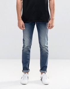 Синие потертые джинсы скинни Lee Luke - Синий
