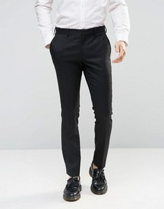 Зауженные брюки стретч Selected Homme - Черный
