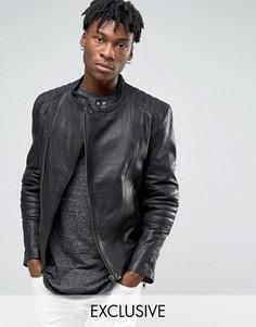 Кожаная куртка Black Dust - Черный