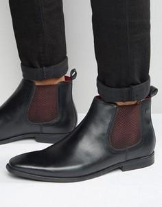 Кожаные ботинки челси Base London William - Черный
