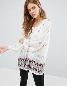 Блузка с принтом Hazel - Белый