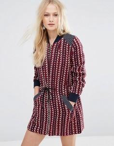 Платье на молнии спереди Hazel - Красный