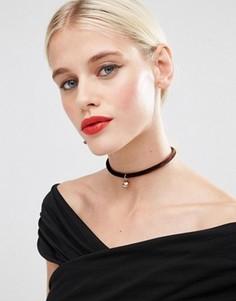 Ожерелье-чокер с искусственным жемчугом ASOS - Коричневый
