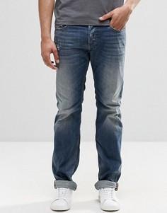 Прямые рваные джинсы Diesel Safado 853S - Синий