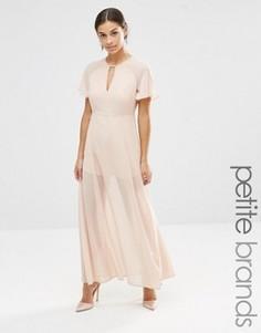 Платье макси с рукавами-бабочками Vero Moda Petite - Розовый