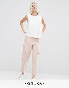 Комбинируемые брюки в стиле милитари House Of Sunny - Розовый