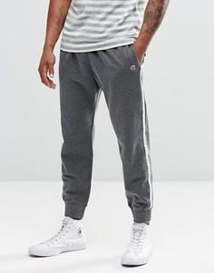Светло-серые зауженные спортивные брюки с полосами по бокам Abercrombie & Fitch - Серый