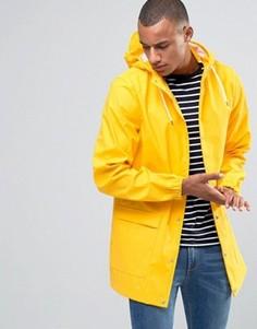 Водонепроницаемая куртка средней длины с капюшоном D-Struct - Желтый