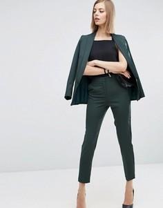 Приталенные брюки ASOS Premium - Зеленый