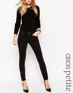 Черные выбеленные прямые джинсы ASOS PETITE - Черный