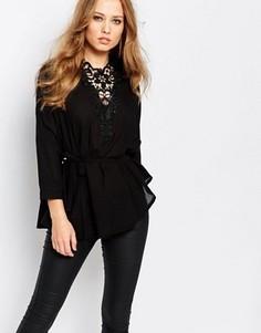 Рубашка с кружевной кокеткой Y.A.S Mille - Черный