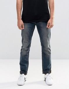 Синие узкие джинсы в винтажном стиле Blend Twister - Синий
