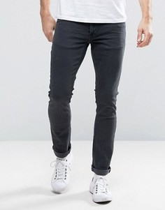 Серые джинсы скинни Nudie Long John - Серый