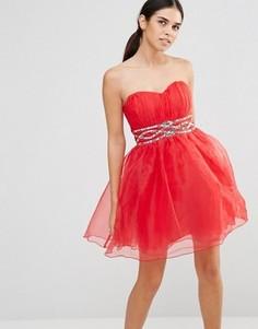 Платье для выпускного Laced In Love - Красный