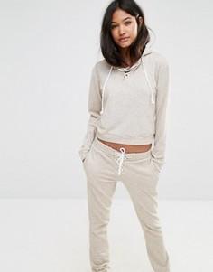 Oversize-худи со шнуровкой Glamorous - Stone