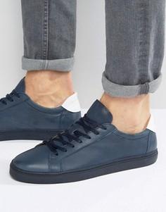 Кожаные кроссовки Selected Homme David - Зеленый