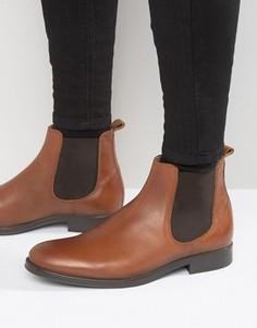 Кожаные ботинки челси Selected Homme Oliver - Рыжий