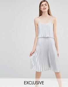 Платье миди 2 в 1 True Violet - Серебряный