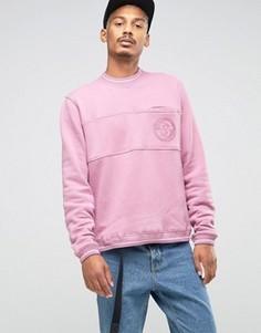Свитшот со вставкой и карманом Stussy - Розовый