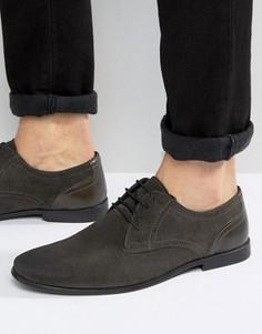 Серые замшевые туфли на шнуровке ASOS - Серый