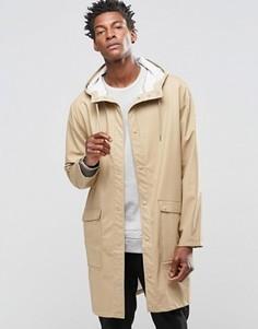 Бежевая куртка-дождевик с капюшоном Weekday Sune - Красный