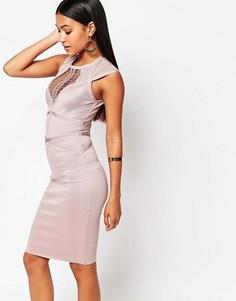 Бандажное платье со вставками WOW Couture - Розовый