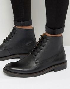Черные кожаные ботинки на шнуровке KG By Kurt Geiger - Черный