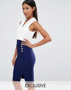 Платье-футляр в стиле смокинга Vesper - Мульти