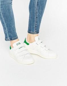 Белые кроссовки из искусственной змеиной кожи adidas Originals Velcro Stan Smith - Белый