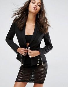 Блейзер со шнуровкой цепочкой Versace Jeans - Черный