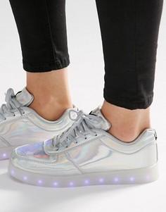 Кроссовки со светящейся подошвой Wize & Ope - Серебряный