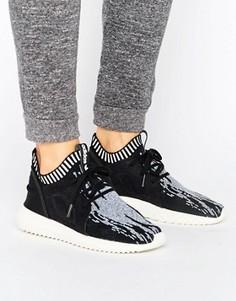 Черные кроссовки с принтом adidas Originals Primeknit Tubular - Черный