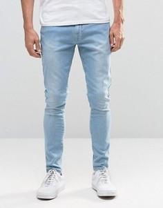 Светлые джинсы с необработанным краем Brooklyn Supply Co - Синий