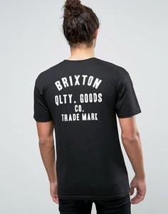 Футболка с принтом Brixton - Черный