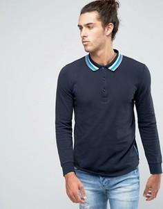 Трикотажная футболка‑поло с длинными рукавами Ellesse Italia - Темно-синий
