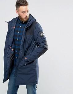 Темно-синяя утепленная куртка The North Face Mountain - Темно-синий