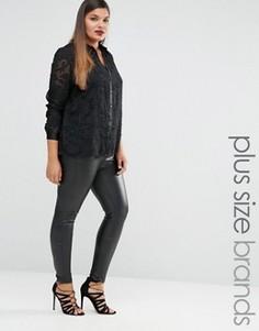 Полупрозрачная рубашка Lovedrobe - Черный