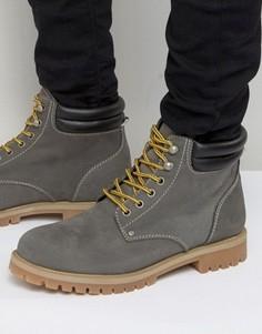 Нубуковые ботинки Jack & Jones Stoke - Серый