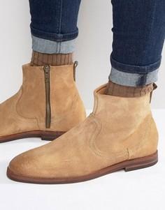 Замшевые ботинки на молнии Hudson London - Рыжий