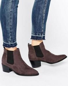 Серые ботинки челси на каблуке Head Over Heels By Dune Perina - Серый