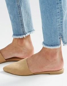 Туфли-слипоны без задника New Look - Серый