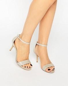 Сандалии на среднем каблуке с ремешком вокруг щиколотки Dune Maria - Золотой