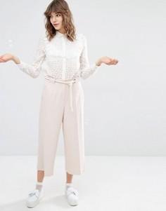 Укороченные брюки с широкими штанинами Paul and Joe Sister - Розовый